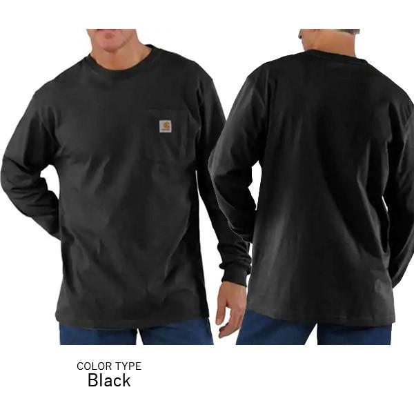 カーハート【carhartt】K126 メンズ トップス ロンT Long Sleeve Workwear Pocket T-Shirt  カットソー Tシャツ USサイズ 【1点のみメール便可】|bobsstore|04