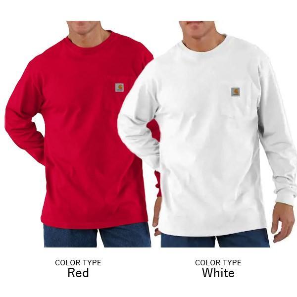 カーハート【carhartt】K126 メンズ トップス ロンT Long Sleeve Workwear Pocket T-Shirt  カットソー Tシャツ USサイズ 【1点のみメール便可】|bobsstore|05