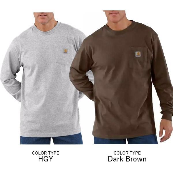 カーハート【carhartt】K126 メンズ トップス ロンT Long Sleeve Workwear Pocket T-Shirt  カットソー Tシャツ USサイズ 【1点のみメール便可】|bobsstore|06