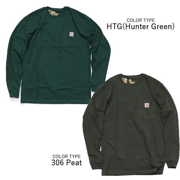 カーハート【carhartt】K126 メンズ トップス ロンT Long Sleeve Workwear Pocket T-Shirt  カットソー Tシャツ USサイズ 【1点のみメール便可】|bobsstore|08