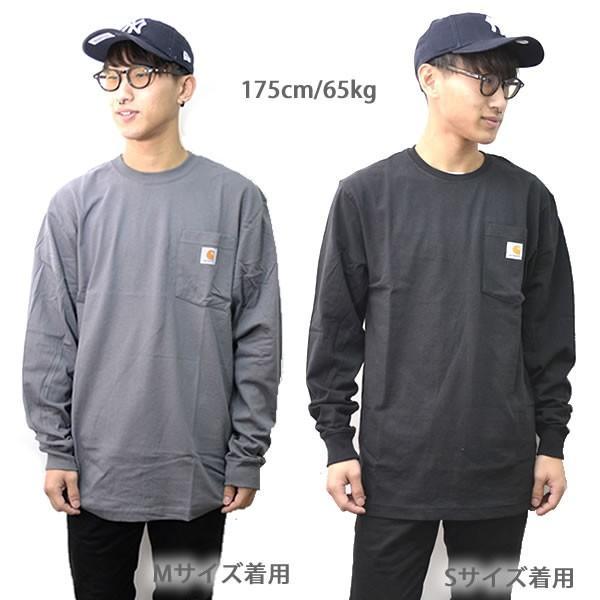 カーハート【carhartt】K126 メンズ トップス ロンT Long Sleeve Workwear Pocket T-Shirt  カットソー Tシャツ USサイズ 【1点のみメール便可】|bobsstore|09