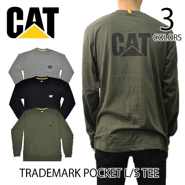 Caterpillar Mens Logo Pocket Tee