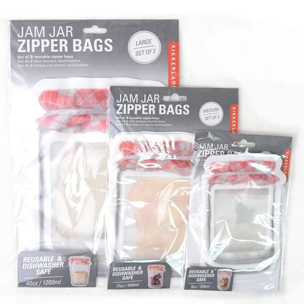 キッカーランド/KIKKERLAND セットがお得☆ CU174  JAM JAR  ZIPPER BAGS お好きな組み合わせ3set S M L bobsstore 02