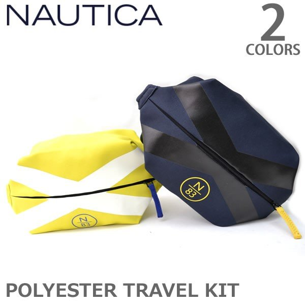 ノーティカ/Nautica NB0014 TRAVEL KIT ポーチ トラベルキット バッグ ノーティカ ネイビー イエロー|bobsstore