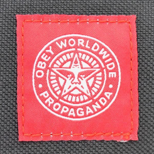 オベイ【OBEY】ポーチ 100010078 REVOLT RED WASH BAG ロゴ バッグ 小物入れ|bobsstore|05