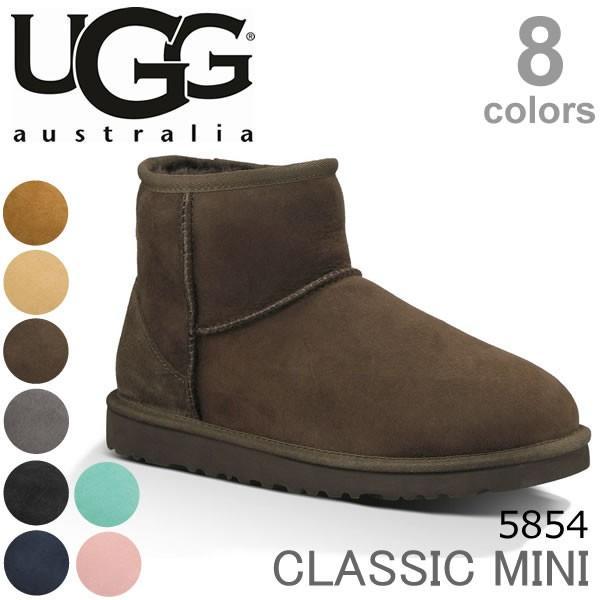 【UGG/アグ】正規品 CLASSIC MINI/クラシックミニ もこもこムートンブーツ♪スリッポン スエード/レディース/オーストラリア シープスキン 5854|bobsstore