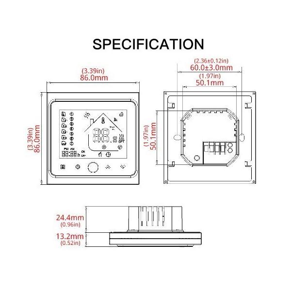 遠赤外線床暖房 WiFi対応床暖房用温度コントローラー body-create 05