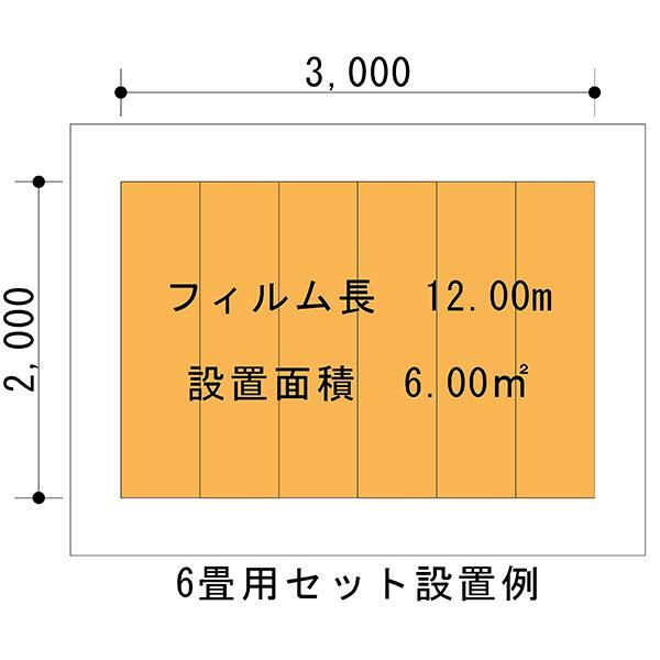 お手軽!!簡単!! PTC式電気床暖房 DIYセット 6畳用 「EXCEL床暖房シートPTC」200V用 フローリング材糊付け施工OK Wi-Fiコントローラー付き|body-create|11
