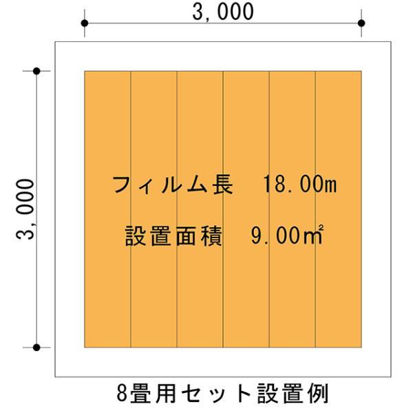 お手軽!!簡単!! PTC式電気床暖房 DIYセット 8畳用 「EXCEL床暖房シートPTC」200V用 フローリング材糊付け施工OK Wi-Fiコントローラー付き|body-create|11