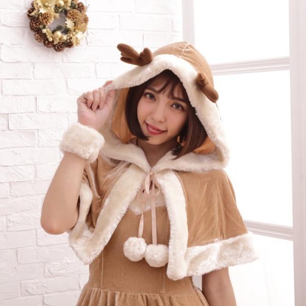 コスプレ コスプレ ケープ フード付き トナカイ  クリスマス 衣装 costume1111|bodylinecojp|02