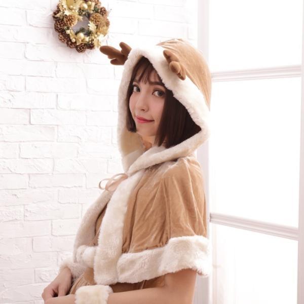 コスプレ コスプレ ケープ フード付き トナカイ  クリスマス 衣装 costume1111|bodylinecojp|03