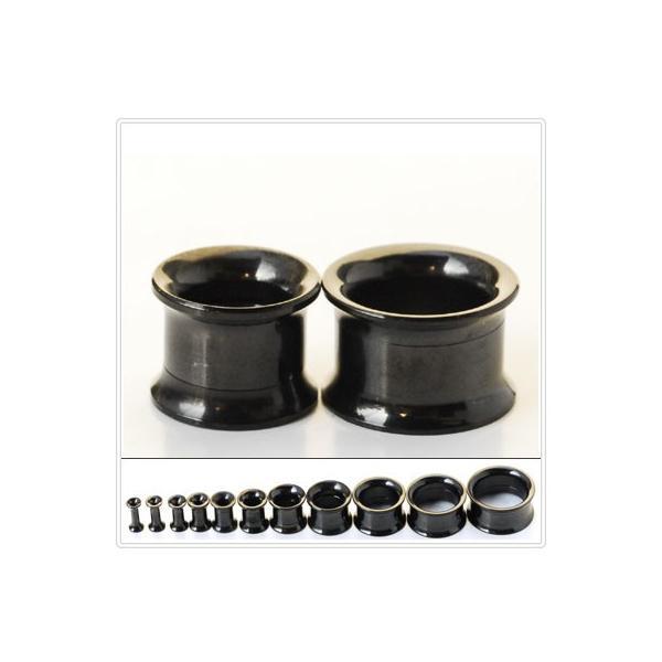 18mm  20mm ブラック ダブルフレア インターナル ボディピアス bodywell 02