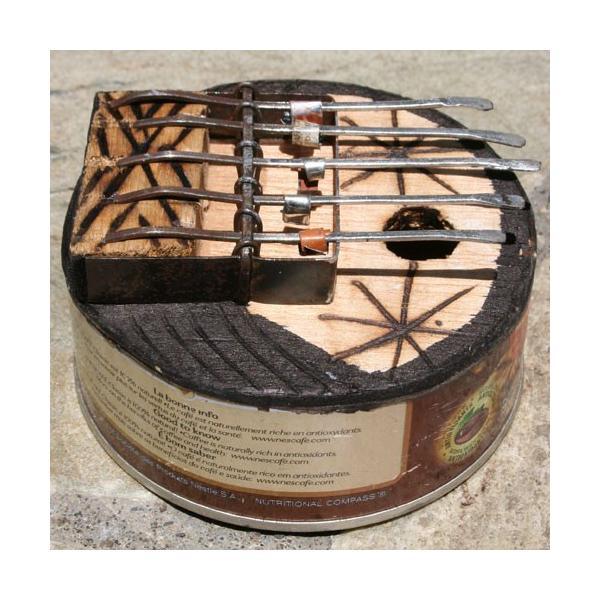 アフリカ 民俗楽器 缶サンザ カリンバ オルゴール|bogolanmarket|02