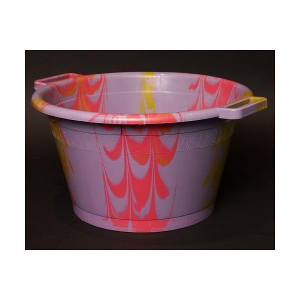 アフリカ セネガル プラスチック桶 (L)No.1 カラフル マーブル バケツ|bogolanmarket