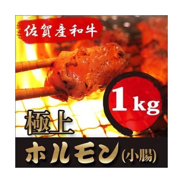 お中元 ギフト プレゼント 高級 黒毛和牛 (佐賀産和牛) 新鮮 ホルモン 1kg (小腸 100%) 極旨/国産 牛モツ もつ鍋 もつ煮 焼肉