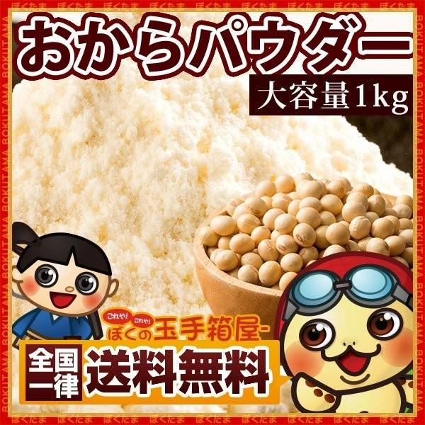 おからパウダー 1kg ( 500gx2 )  送料無料 乾燥おから おから粉末 グルメ 乾燥 ドライ 大豆 大豆たんぱく ダイエット TVで話題