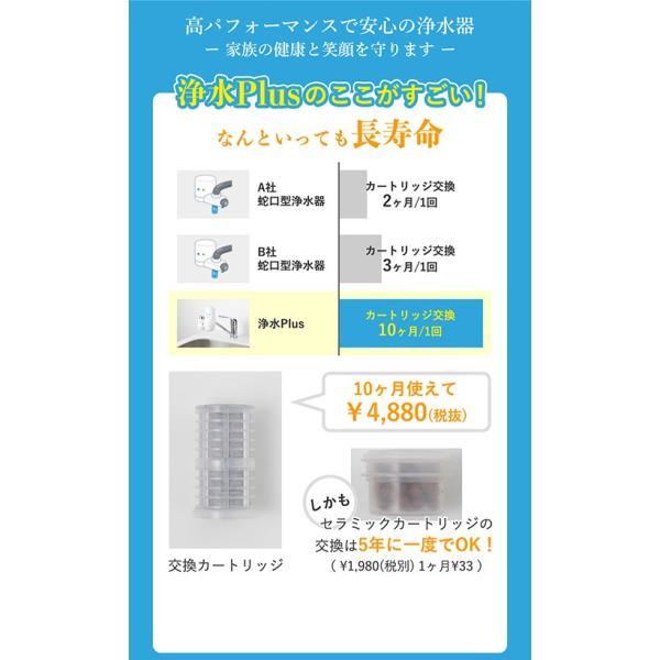 浄水器 蛇口直結型浄水器 長寿命 ランニングコスト 塩素除去 日本製 キッチン用 高性能カートリッジ bollina 03