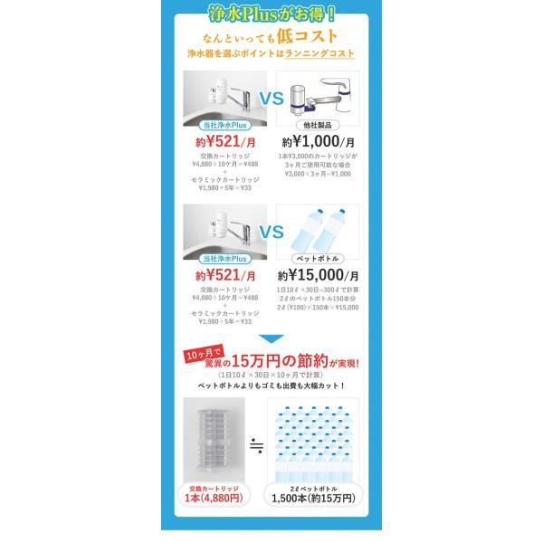 浄水器 蛇口直結型浄水器 長寿命 ランニングコスト 塩素除去 日本製 キッチン用 高性能カートリッジ bollina 04