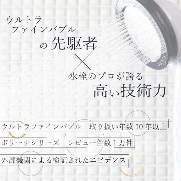 シャワーヘッド 美容 節水 ウルトラファインバブル マイクロナノバブル 交換 節水シャワー  ボリーナワイド 公式限定 bollina 04