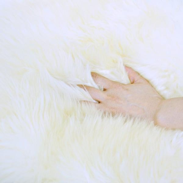 わけあり商品 着色部分がある為 ムートンラグ(ムートンフリース) 長毛 ムートン ラグ 2匹サイズ アイボリー 送料無料 激安大特価 わけあり商品|boma-webshop|04