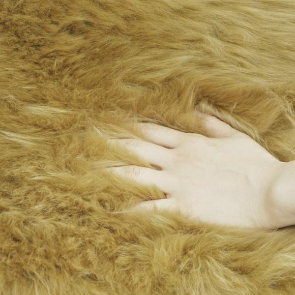 わけあり商品 着色部分がある為 ムートンラグ(ムートンフリース) 長毛 ムートン ラグ 2匹サイズ アイボリー 送料無料 激安大特価 わけあり商品|boma-webshop|05