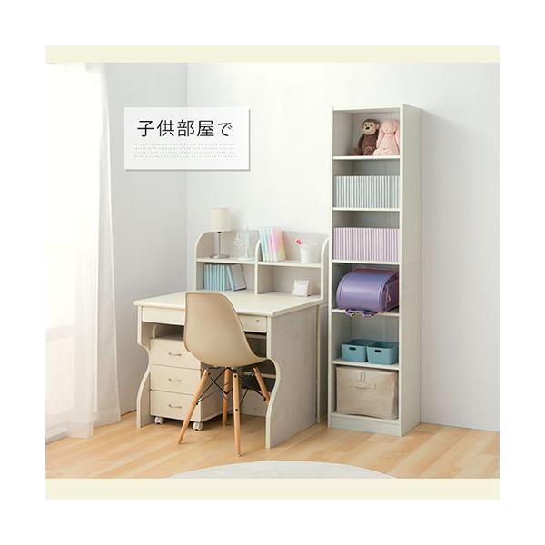本棚 書棚 おしゃれ 大容量 収納 ラック 棚 木製 収納棚 幅44 A4 漫画 コミック CD 180cm 6段 省スペース ディスプレイ ブックシェルフ|bon-like|13
