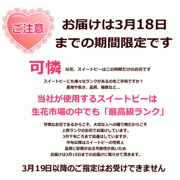 スイートピー50本の花束/プレゼント ギフト 誕生日プレゼント スイトピー|bon-sense|05