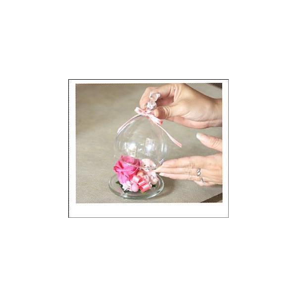 ガラスドーム 温度で色が変わる 魔法のプリザーブドフラワーちび・KUMA|bon-sense|04
