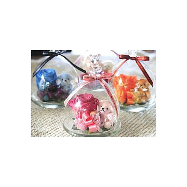 ガラスドーム 温度で色が変わる 魔法のプリザーブドフラワーちび・KUMA|bon-sense|05