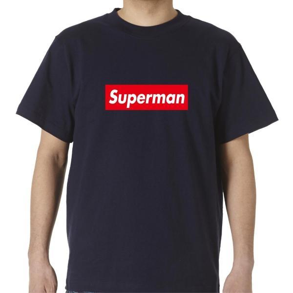 シュプリーム 好き必見 ストリート大人気Tシャツ Superman パロディ ボックスロゴ オシャレ|bonabona|02