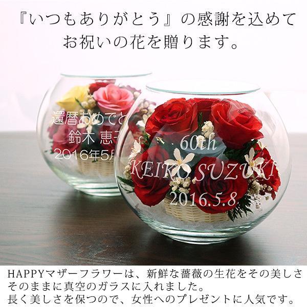 還暦祝い 女性 プレゼント 花 ハッピーマザーフラワー 大 レッド 通常発送|bondsconnect|05
