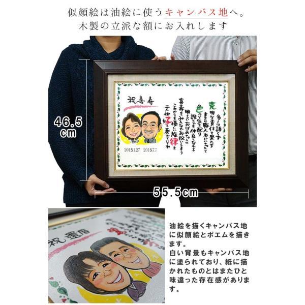 喜寿のお祝い 笑顔絵ポエム 似顔絵1〜2名様|bondsconnect|13
