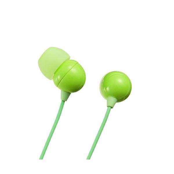 (まとめ)サンワサプライ ステレオイヤホン(グリーン) MM-HP117G〔×3セット〕