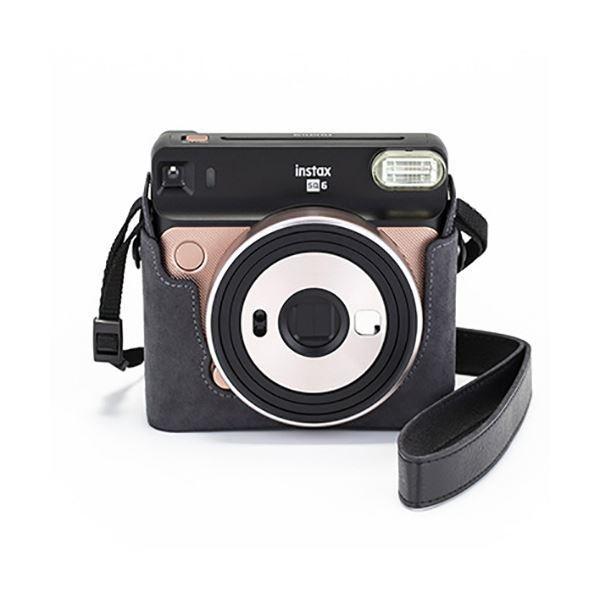 富士フイルム カメラケース(速写ケース)チェキスクエア instax SQUARE SQ6用 グレー 1個