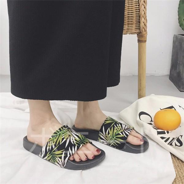 母の日 ミュール サンダル レディース ぺたんこ 歩きやすい 痛くない ボタニカル柄 おしゃれ スリッパ ルームシューズ 室内履きも外履