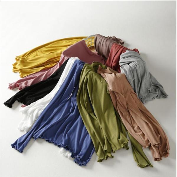 期間セール 送料無料 tシャツ ロング丈 長袖 ロンt 無地 ゆったり 大きいサイズ ドロップショルダー レディース|bonito|02