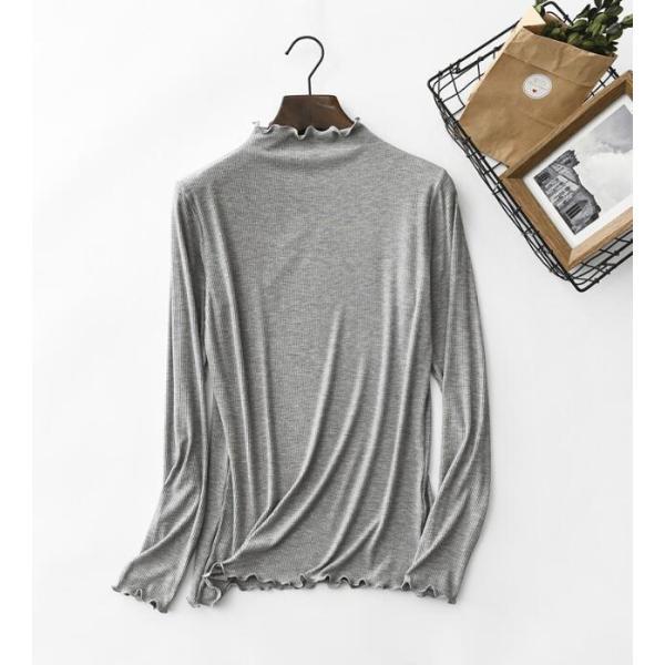 期間セール 送料無料 tシャツ ロング丈 長袖 ロンt 無地 ゆったり 大きいサイズ ドロップショルダー レディース|bonito|11