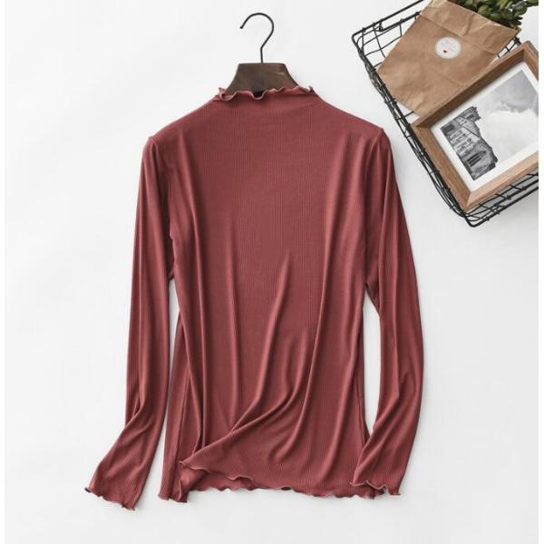 期間セール 送料無料 tシャツ ロング丈 長袖 ロンt 無地 ゆったり 大きいサイズ ドロップショルダー レディース|bonito|12