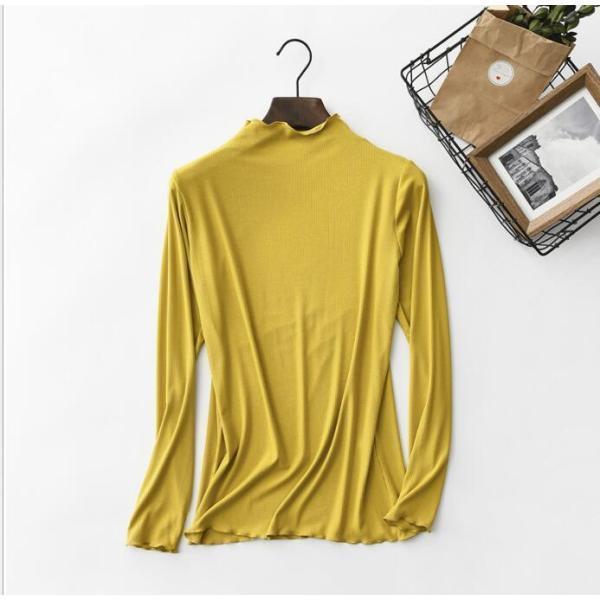 期間セール 送料無料 tシャツ ロング丈 長袖 ロンt 無地 ゆったり 大きいサイズ ドロップショルダー レディース|bonito|04