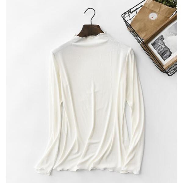期間セール 送料無料 tシャツ ロング丈 長袖 ロンt 無地 ゆったり 大きいサイズ ドロップショルダー レディース|bonito|06