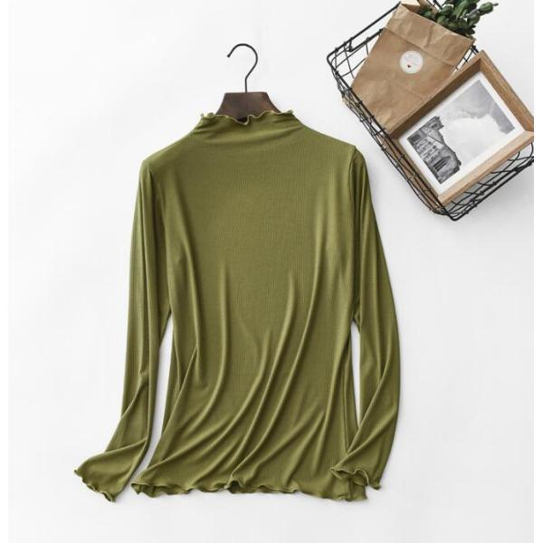 期間セール 送料無料 tシャツ ロング丈 長袖 ロンt 無地 ゆったり 大きいサイズ ドロップショルダー レディース|bonito|07