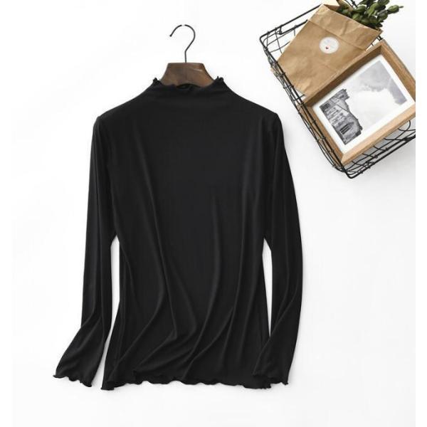 期間セール 送料無料 tシャツ ロング丈 長袖 ロンt 無地 ゆったり 大きいサイズ ドロップショルダー レディース|bonito|08