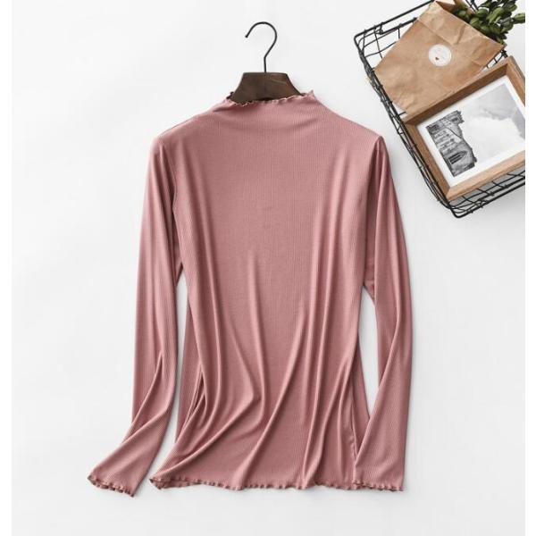 期間セール 送料無料 tシャツ ロング丈 長袖 ロンt 無地 ゆったり 大きいサイズ ドロップショルダー レディース|bonito|09