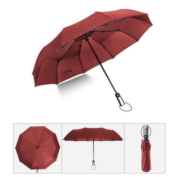 クーポン対象 好評 自動開閉 折りたたみ傘  10本骨 折り畳み傘 日傘 完全遮光 軽量 メンズ レディース 大きい 超軽量 ワンタッチ 丈|bonito|11