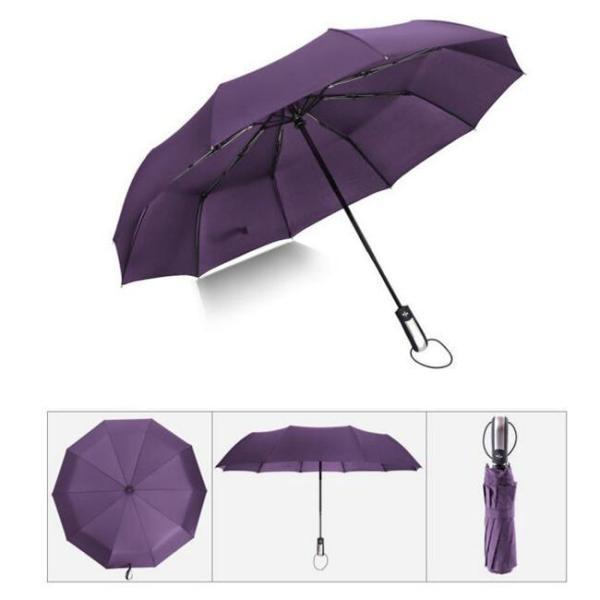 クーポン対象 好評 自動開閉 折りたたみ傘  10本骨 折り畳み傘 日傘 完全遮光 軽量 メンズ レディース 大きい 超軽量 ワンタッチ 丈|bonito|13