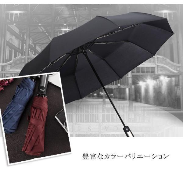 クーポン対象 好評 自動開閉 折りたたみ傘  10本骨 折り畳み傘 日傘 完全遮光 軽量 メンズ レディース 大きい 超軽量 ワンタッチ 丈|bonito|06
