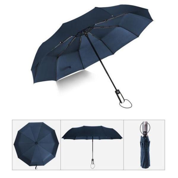 クーポン対象 好評 自動開閉 折りたたみ傘  10本骨 折り畳み傘 日傘 完全遮光 軽量 メンズ レディース 大きい 超軽量 ワンタッチ 丈|bonito|10