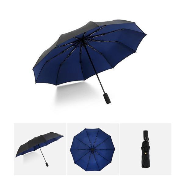 蔵出し限定特価 短納期 自動開閉 折りたたみ傘 メンズ 十本骨 折りたたみ傘 晴雨兼用 日傘 完全遮光 折りたたみ uvカット 遮光|bonito|11