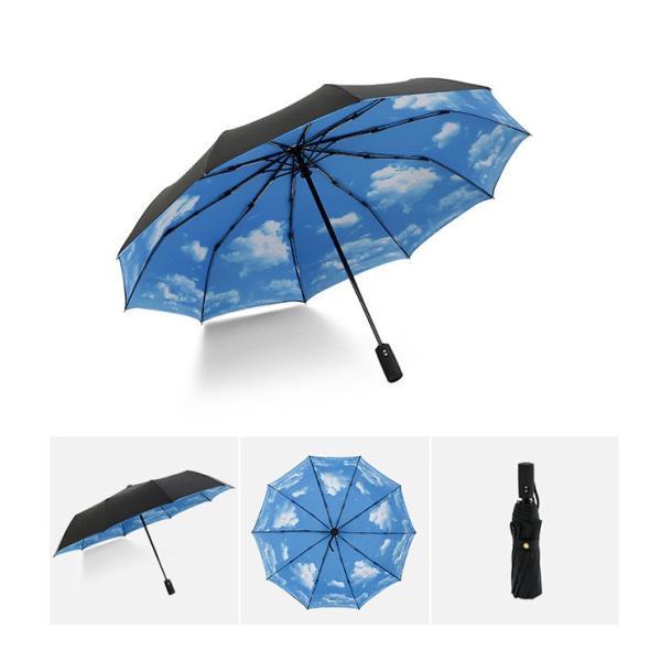 蔵出し限定特価 短納期 自動開閉 折りたたみ傘 メンズ 十本骨 折りたたみ傘 晴雨兼用 日傘 完全遮光 折りたたみ uvカット 遮光|bonito|12