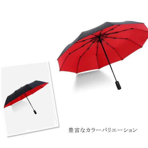 蔵出し限定特価 短納期 自動開閉 折りたたみ傘 メンズ 十本骨 折りたたみ傘 晴雨兼用 日傘 完全遮光 折りたたみ uvカット 遮光|bonito|06